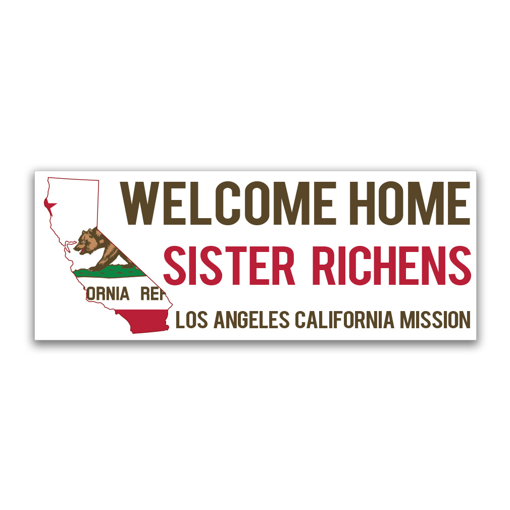 Flag & State Missionary Banner in Welcome Home Banners