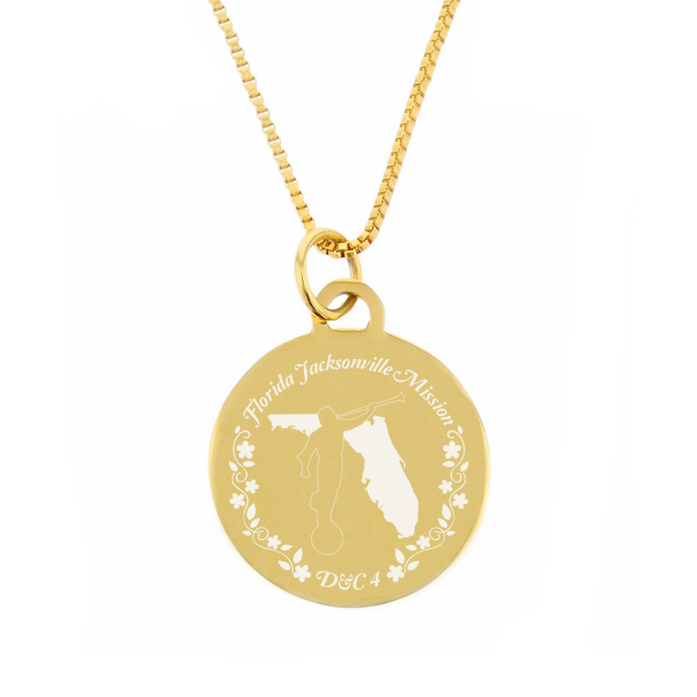 Florida Mission Necklace - Silver/Gold - LDP-CPN48