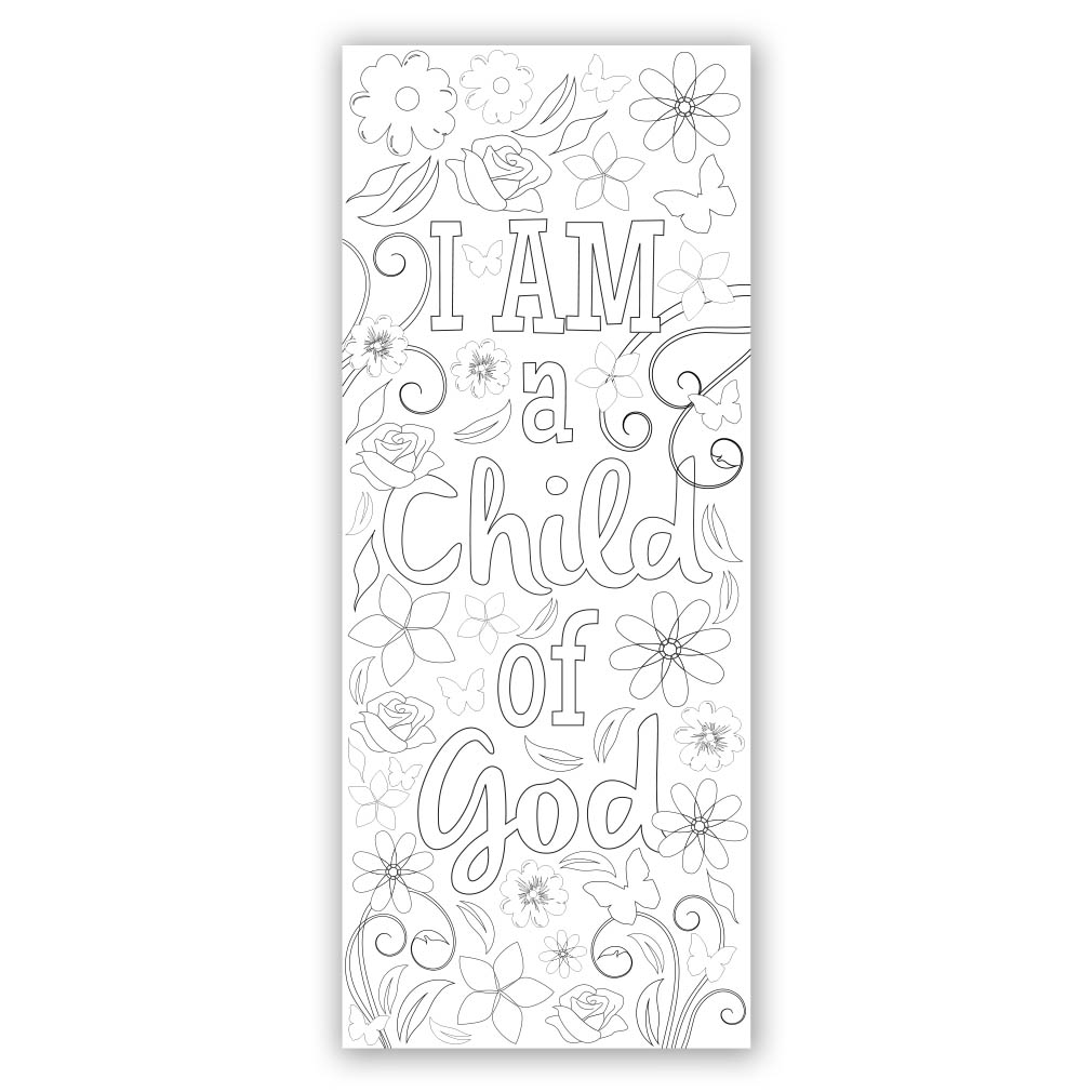 image relating to Who I Am in Christ Printable Bookmark called Flower Coloring Bookmark - Printable