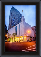 Manhattan Temple Morning - Framed