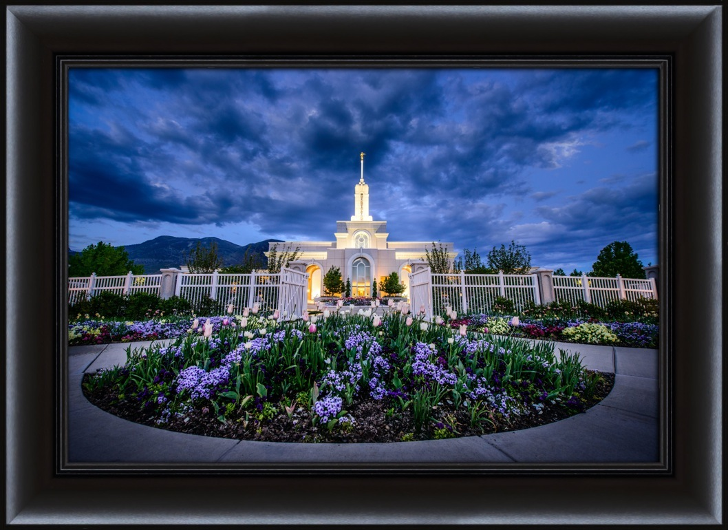 Mt. Timpanogos Temple Flowers - Framed in Temple | LDSBookstore.com ...