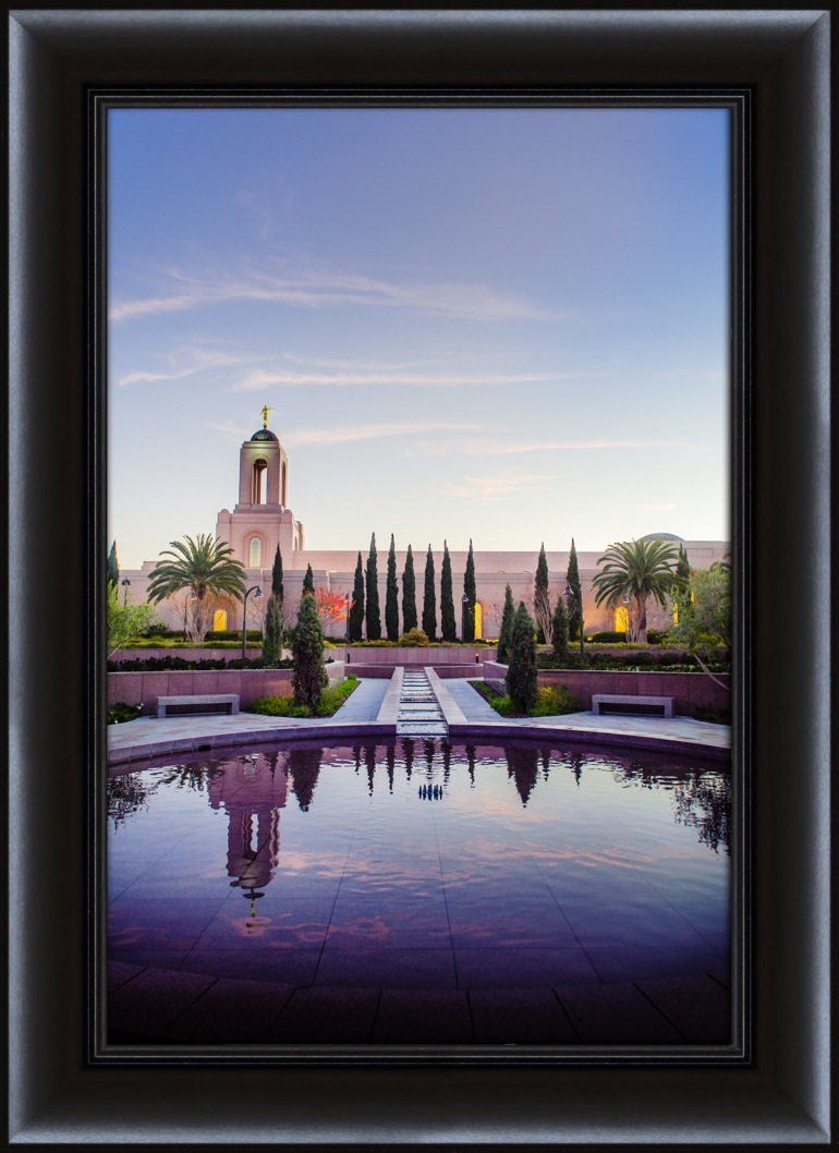 Newport Beach Temple Reflection - Framed in Temple | LDSBookstore ...