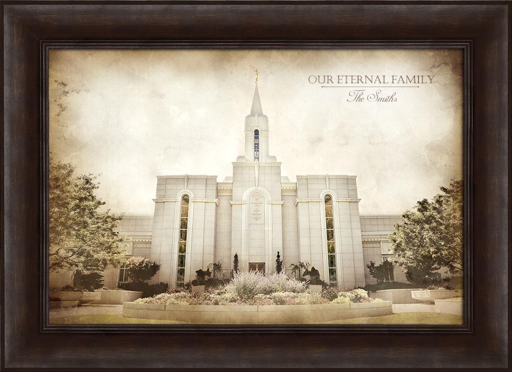 Bountiful Temple - Vintage Framed in Temple | LDSBookstore.com (#D ...