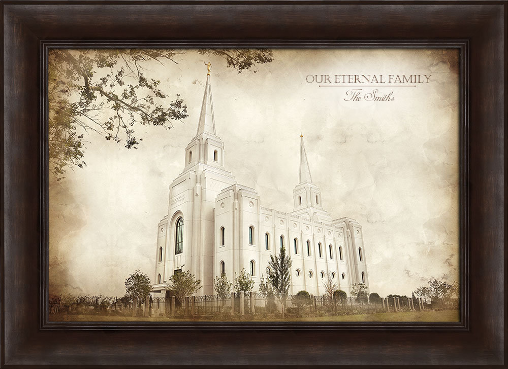 Brigham City Temple Vintage Framed In Temple