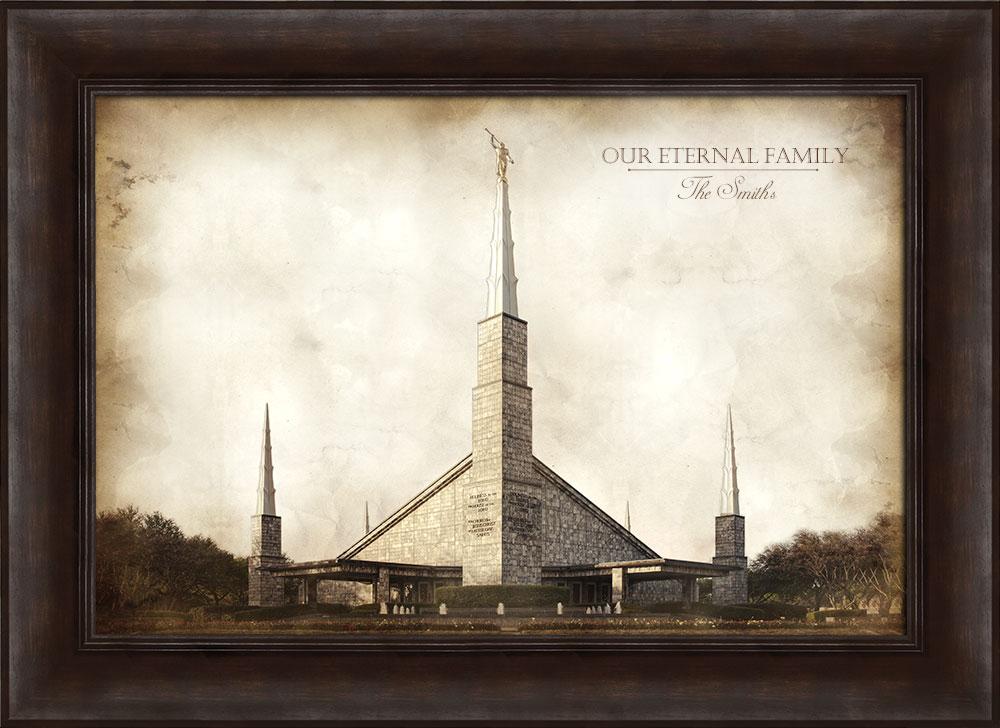 Dallas Temple - Vintage Framed in Temple   LDSBookstore.com (#D-LWA ...