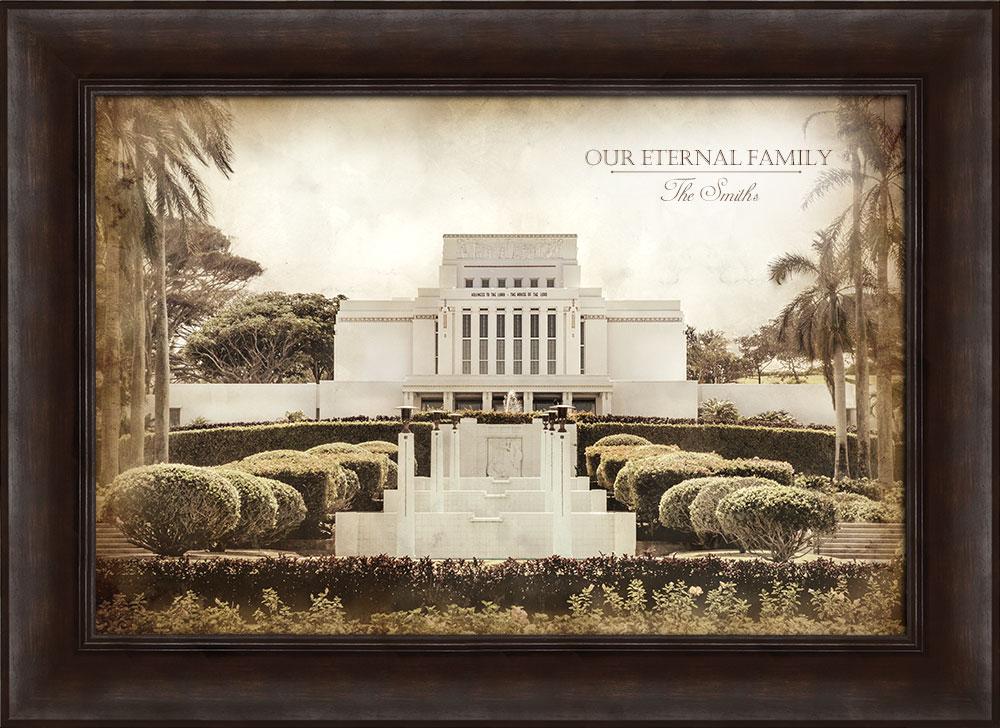 Laie Temple - Vintage Framed in Temple | LDSBookstore.com (#D-LWA-T ...