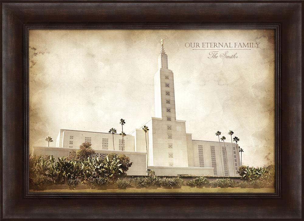 Los Angeles Temple - Vintage Framed in Temple | LDSBookstore.com (#D ...