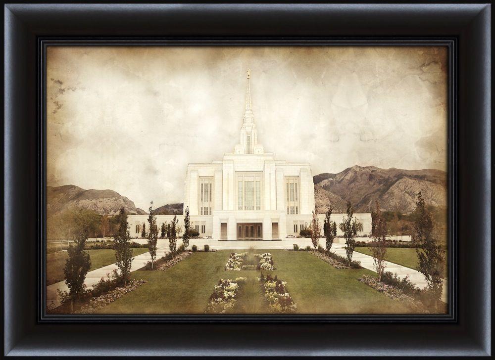 Ogden Temple Vintage Framed In Temple