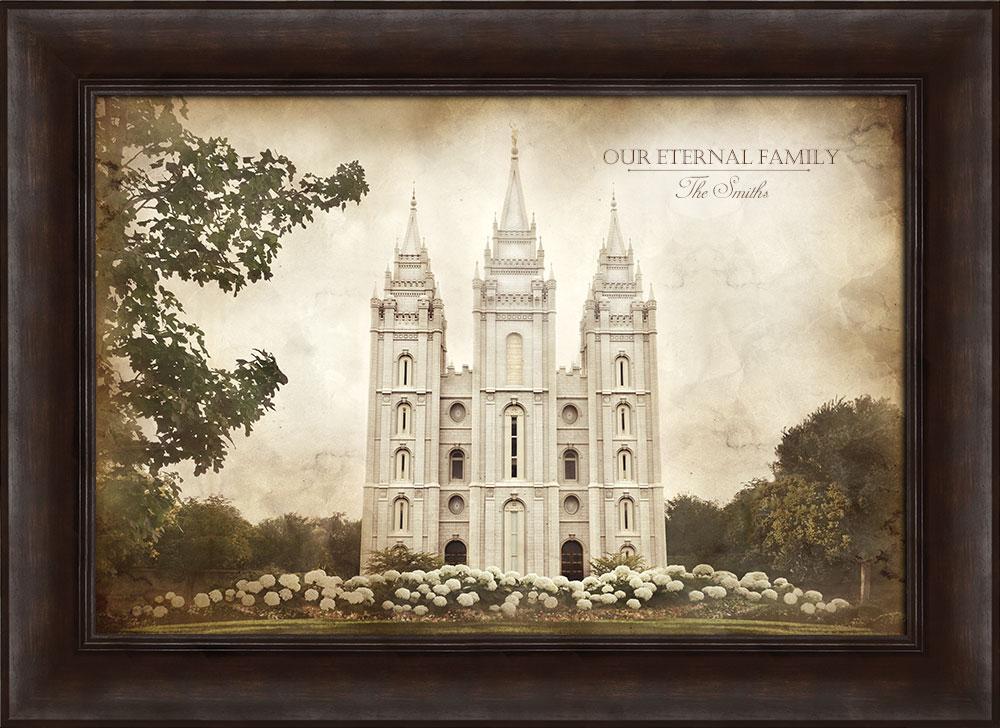 Salt Lake Temple - Vintage Framed in Temple | LDSBookstore.com (#D ...