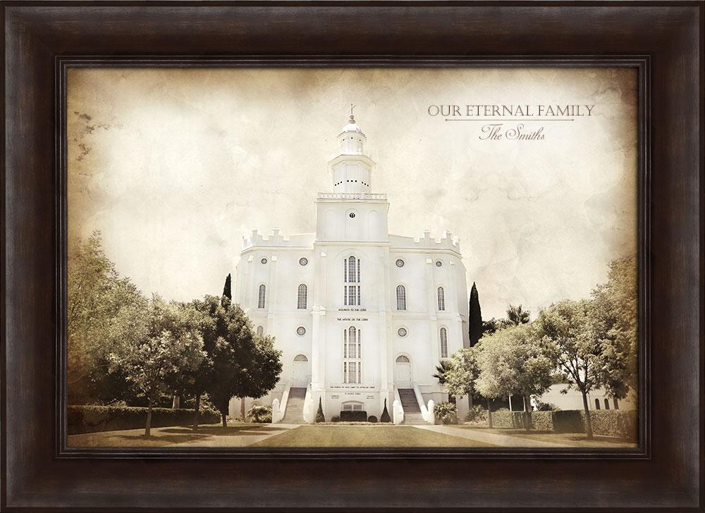St. George Temple - Vintage Framed in Temple | LDSBookstore.com (#D ...