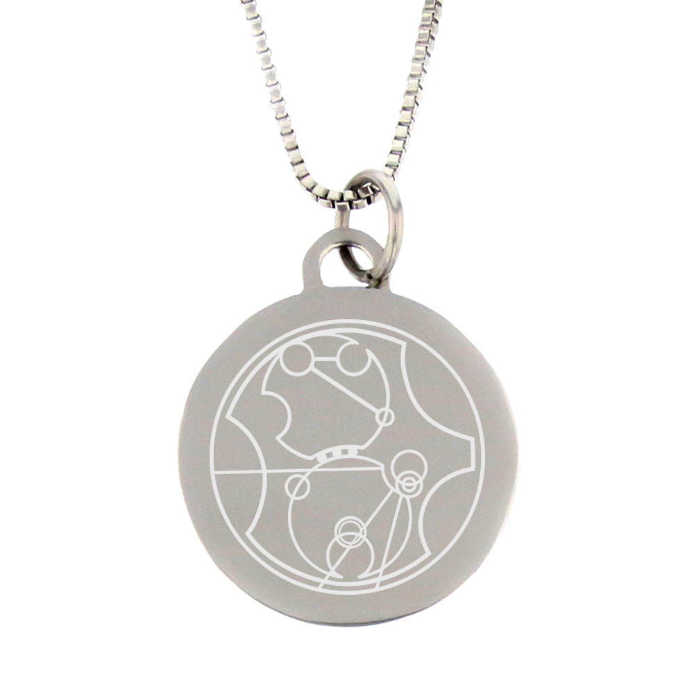 Gallifreyan Choose the Right Pendant - Silver