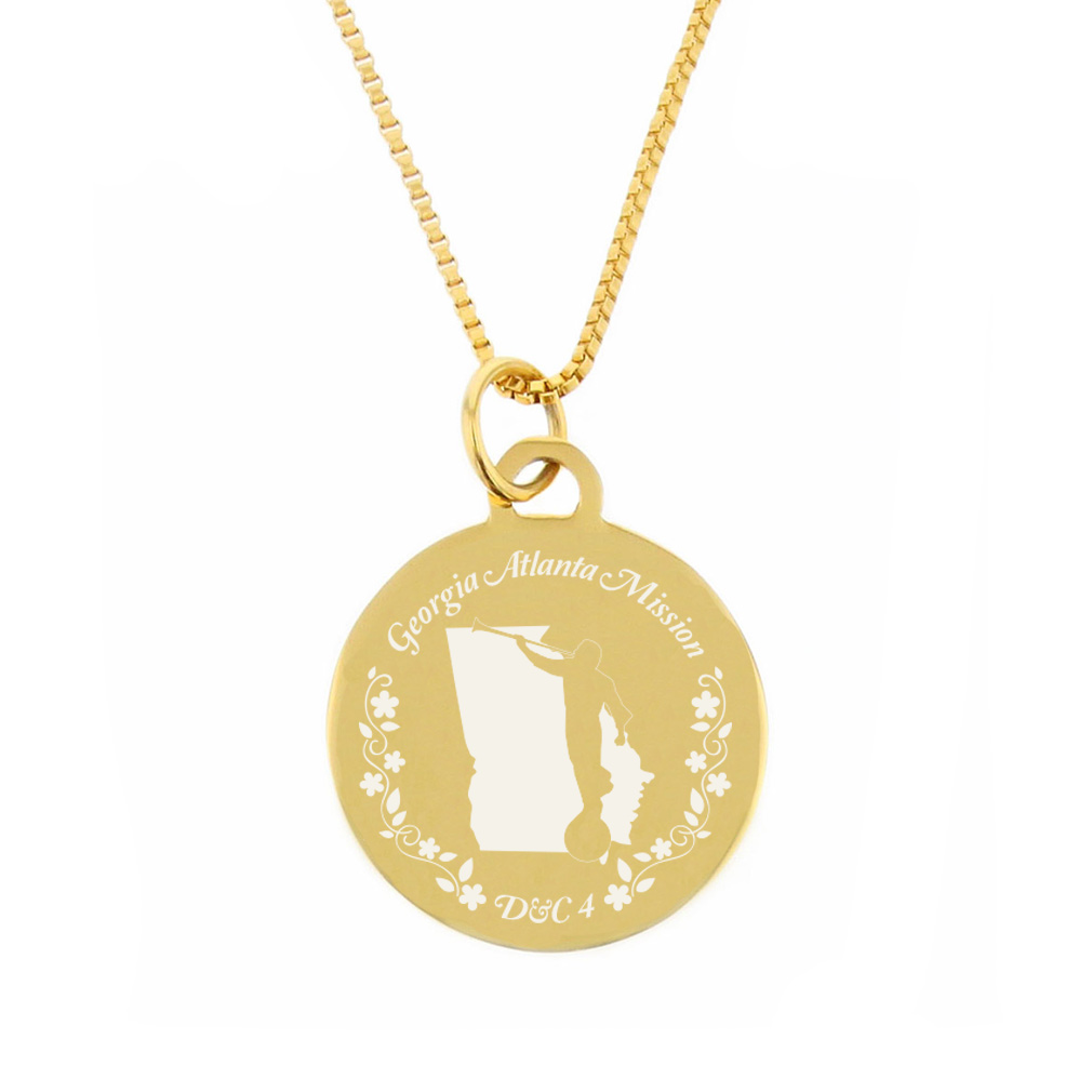 Georgia Mission Necklace - Silver/Gold - LDP-CPN49
