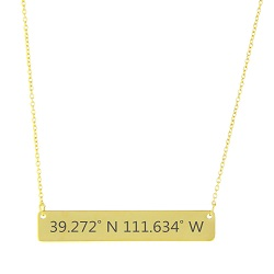 Temple Coordinates Necklace