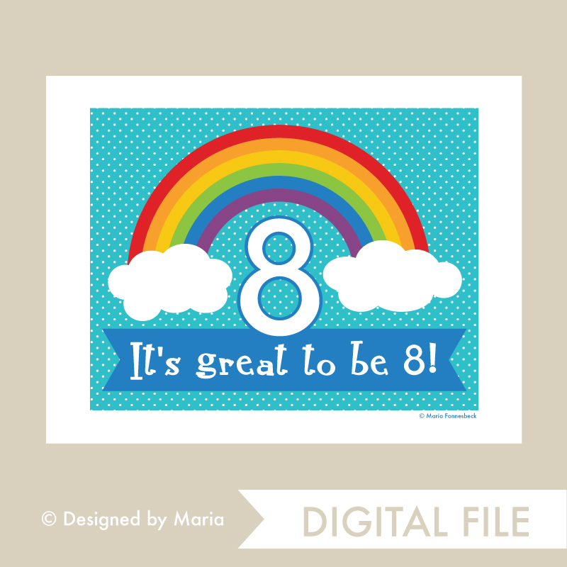 photo regarding Printable Welcome Sign called Fantastic toward be 8 Rainbow Welcome Signal - Printable