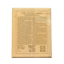 Living Christ 10x14 Wood Plaque - D-HP-TLC