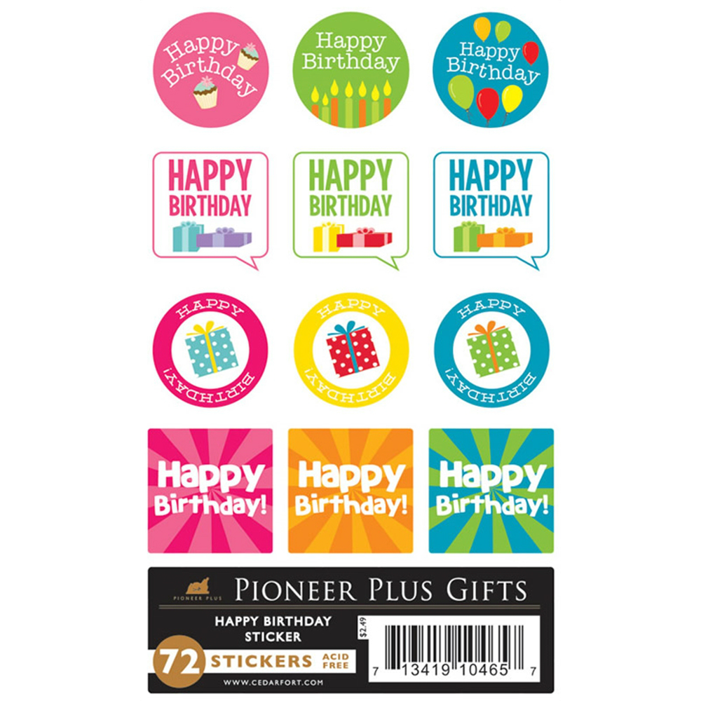 Happy birthday stickers in stickers ldsbookstore com cf p10465
