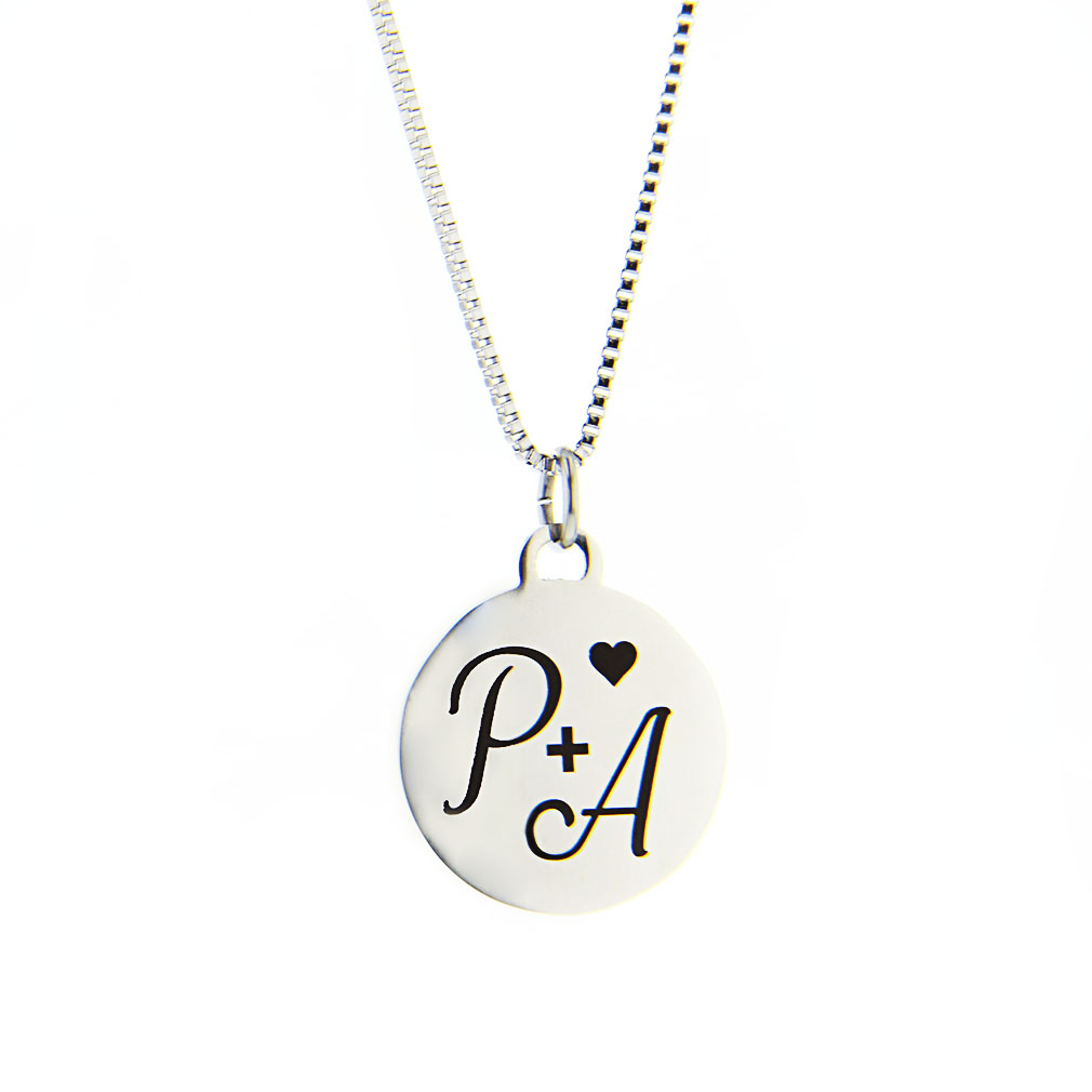 Heart Initial Charm Necklace - LDP-HICN0540