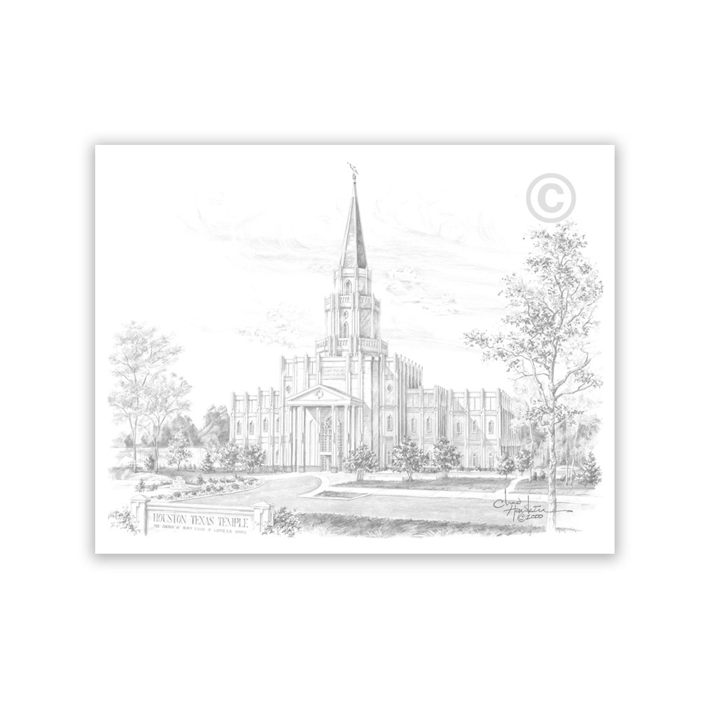 Houston Texas Temple Recommend Holder - CH-RH122