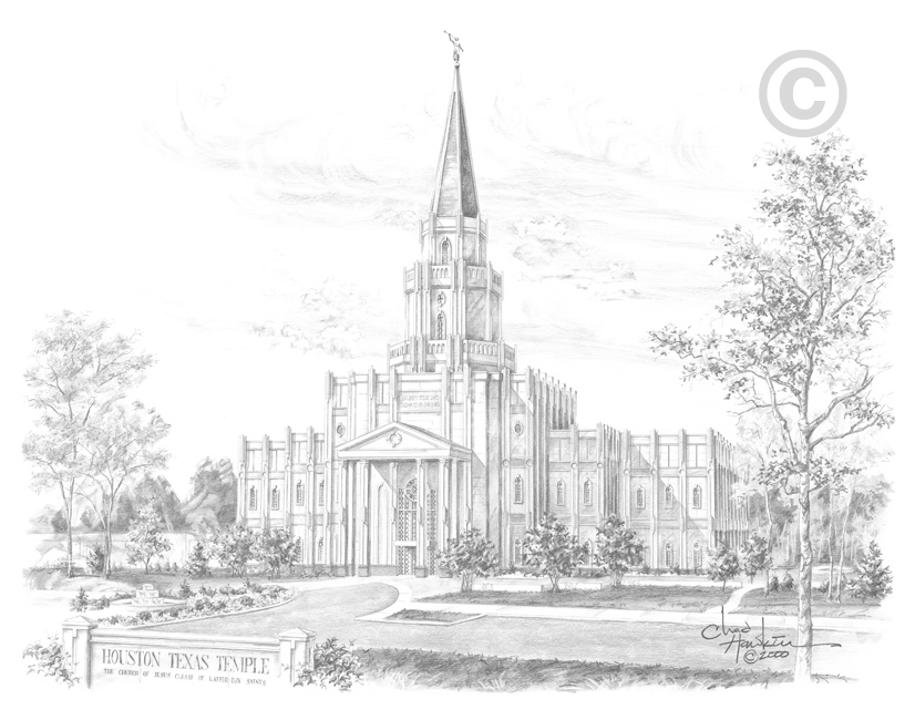 Houston Texas Temple - Sketch in Temple | LDSBookstore.com (#CH ...