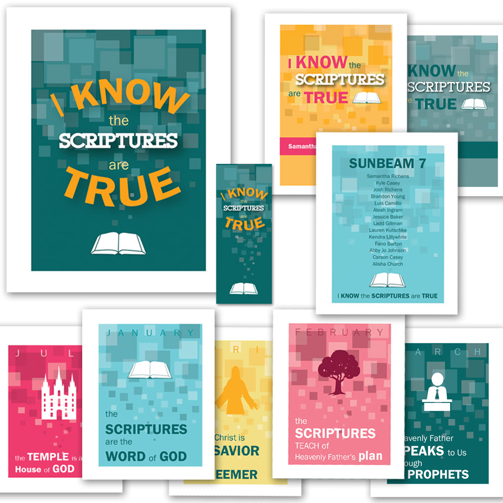 I Know the Scriptures are True Primary Theme Pack - Printable in ...