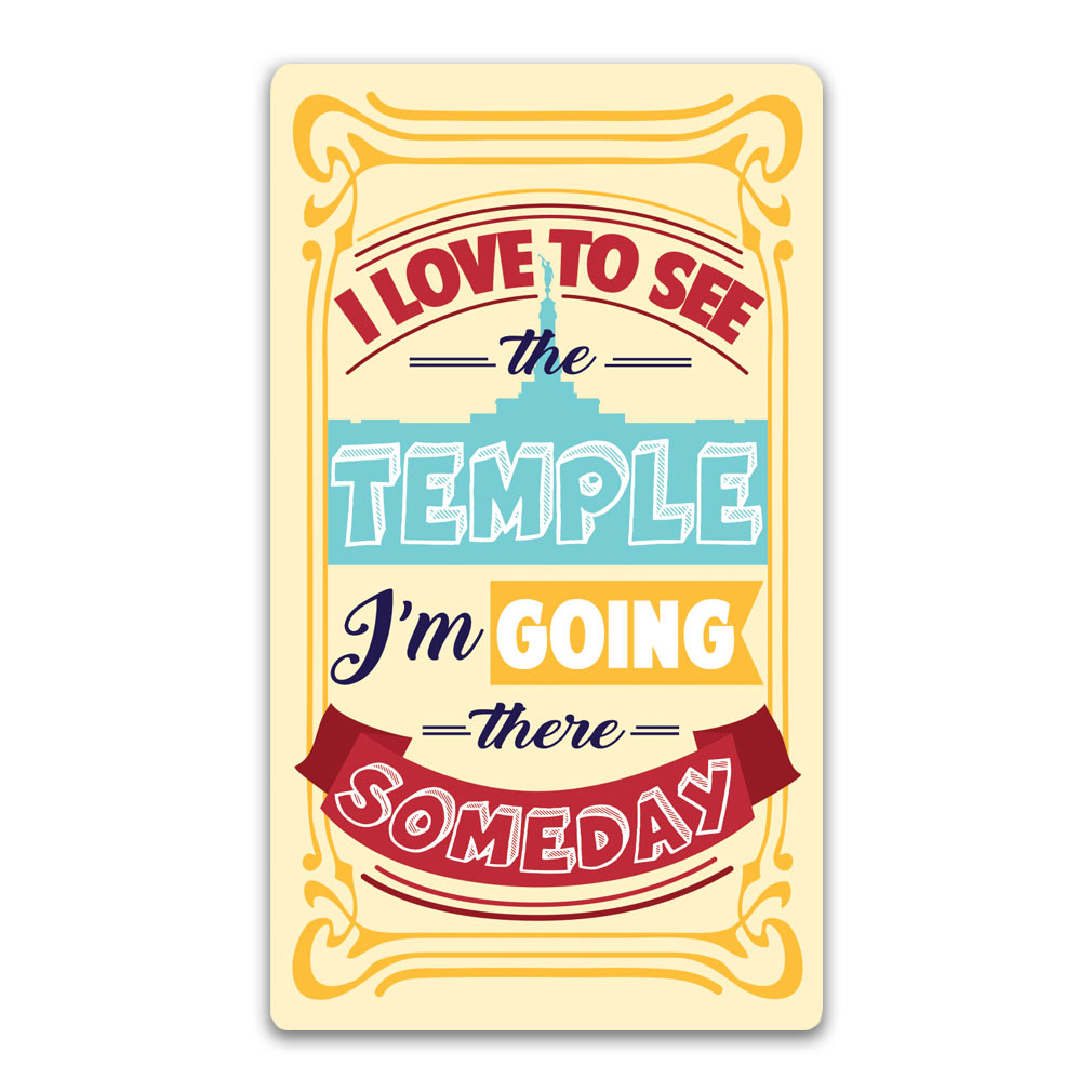 I Love to See the Temple Bookmark