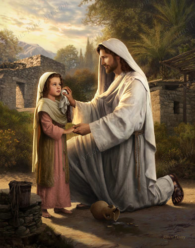 I will dry your tears print in jesus christ - Child jesus images download ...