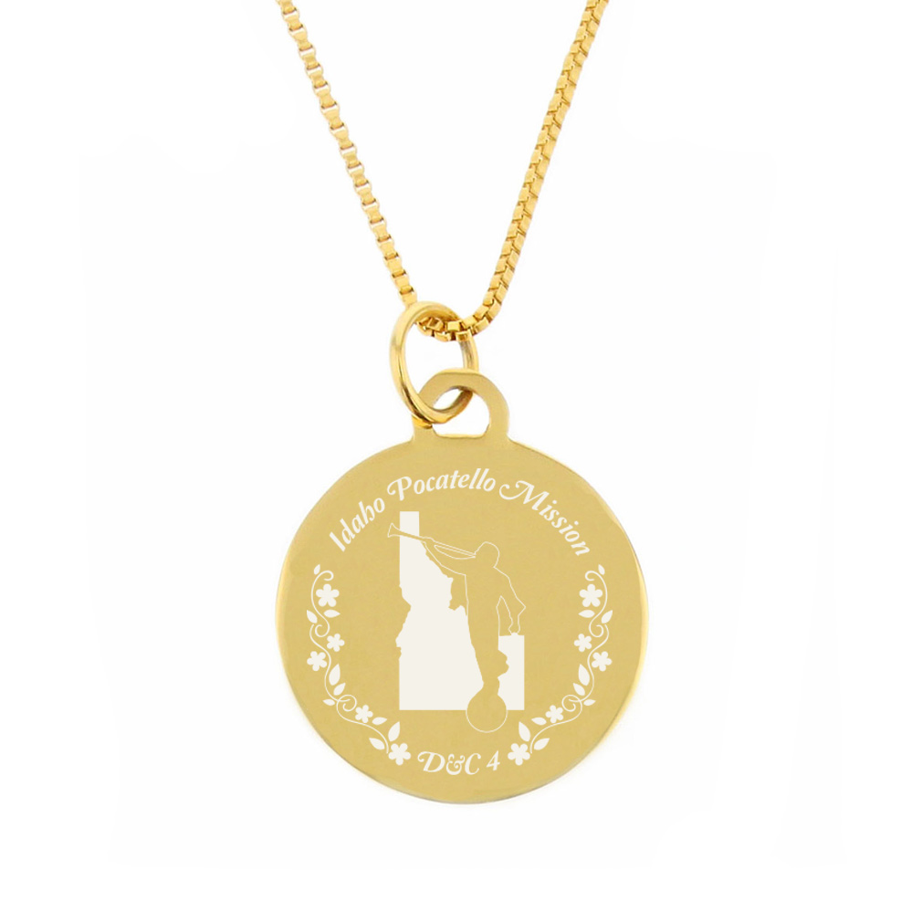 Idaho Mission Necklace - Silver/Gold - LDP-CPN51