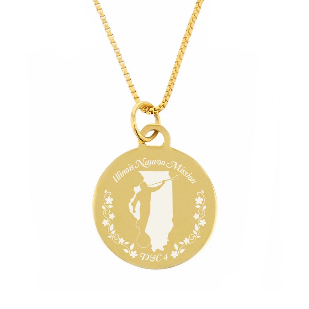Illinois Mission Necklace - Silver/Gold - LDP-CPN52
