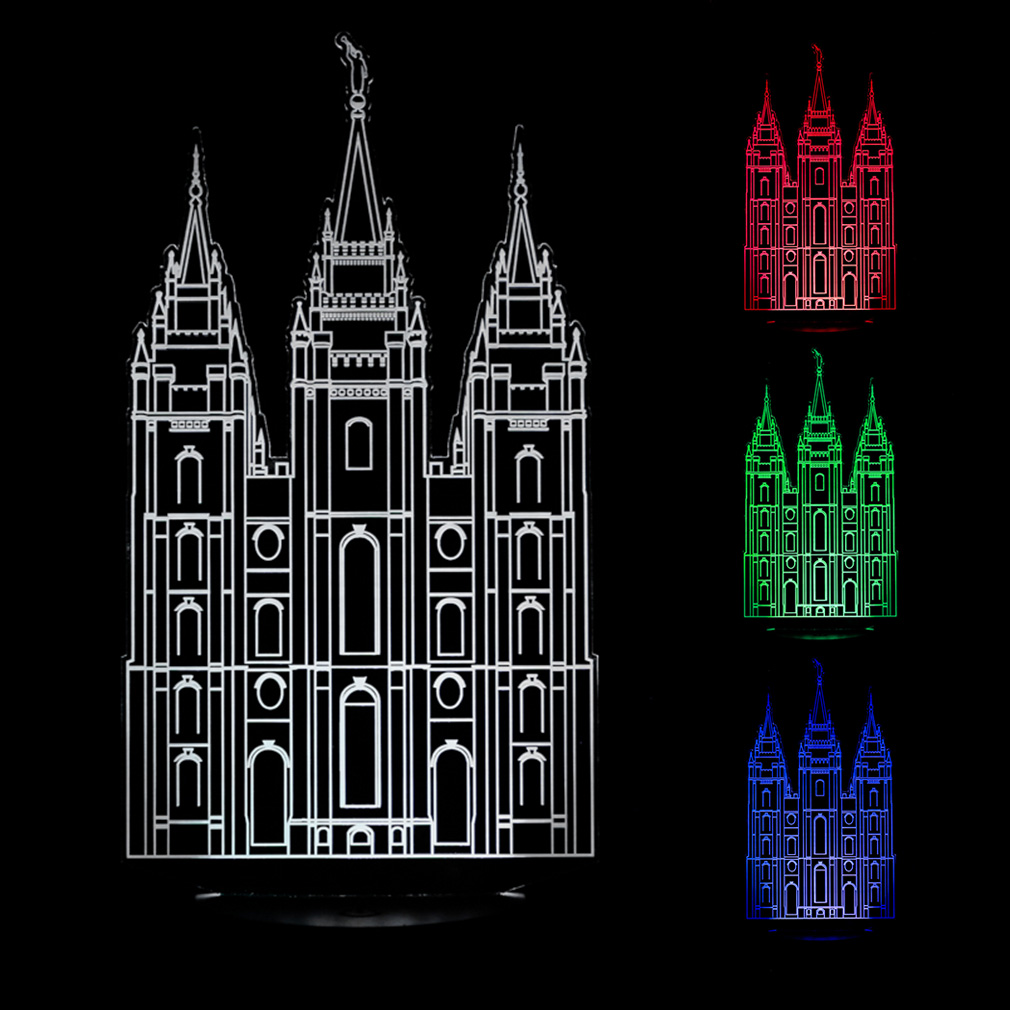 Salt Lake City Temple Illuminated Desk Light