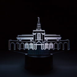 Bountiful Temple LED Night Light bountiful temple, bountiful temple decor, lds desk lights, lds night light, bountiful temple desk light