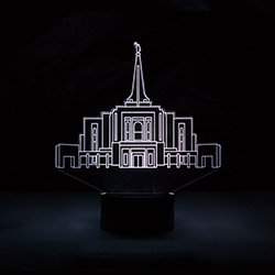 Gilbert Temple Illuminated Desk Light bountiful temple, bountiful temple decor, lds desk lights, lds night light, bountiful temple desk light