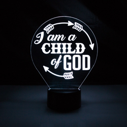 I Am A Child of God Illuminated Desk Light i am a child of god light, i am a child of god night light, lds night light, lds desk light