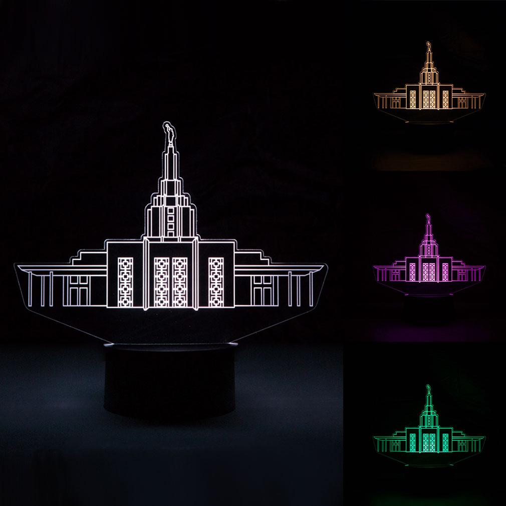 Idaho Falls Temple Illuminated Desk Light - LDP-IDL-IDFALL