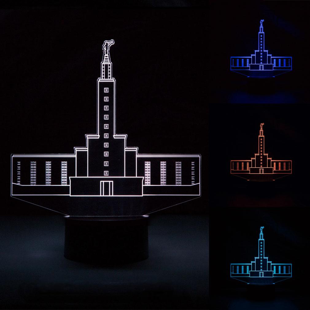 Los Angeles Temple Illuminated Desk Light - LDP-IDL-LA
