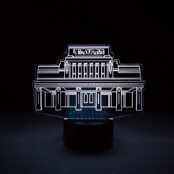 Laie Temple Illuminated Desk Light laie temple art, laie temple light, lds desk light, lds led light, laie hawaii temple