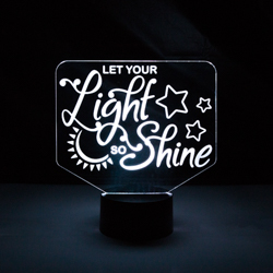 Let Your Light So Shine Illuminated Desk Light lds desk light, lds scripture gift, lds night light