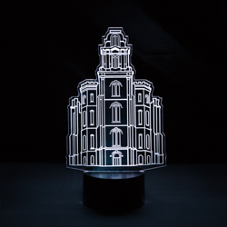Manti Temple LED Night Light manti temple illuminated desk light, lds desk light, lds lights, lds night light, lds gifts