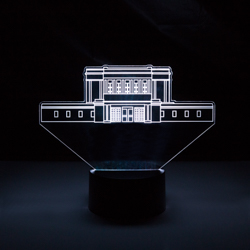Mesa Temple Illuminated Desk Light mesa temple illuminated desk light, lds desk light, lds night light, lds gifts