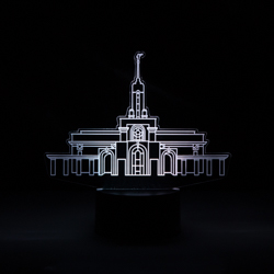 Mount Timpanogos Temple Illuminated Desk Light mount timpanogos temple, mount timpanogos temple decor, mt timpanogos temple art, mount timpanogos temple art, desk light, desk lamp, lds decor, lds gifts, lds temple decor