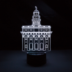 Nauvoo Temple LED Night Light nauvoo temple illuminated desk light, nauvoo temple light, nauvoo Illinois temple, nauvoo temple, lds desk light, lds night light