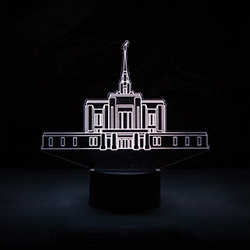 Ogden Temple Illuminated Desk Light bountiful temple, bountiful temple decor, lds desk lights, lds night light, bountiful temple desk light