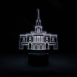 Payson Temple Illuminated Desk Light payson temple light, payson temple desk light, payson utah temple art, payson utah temple decor