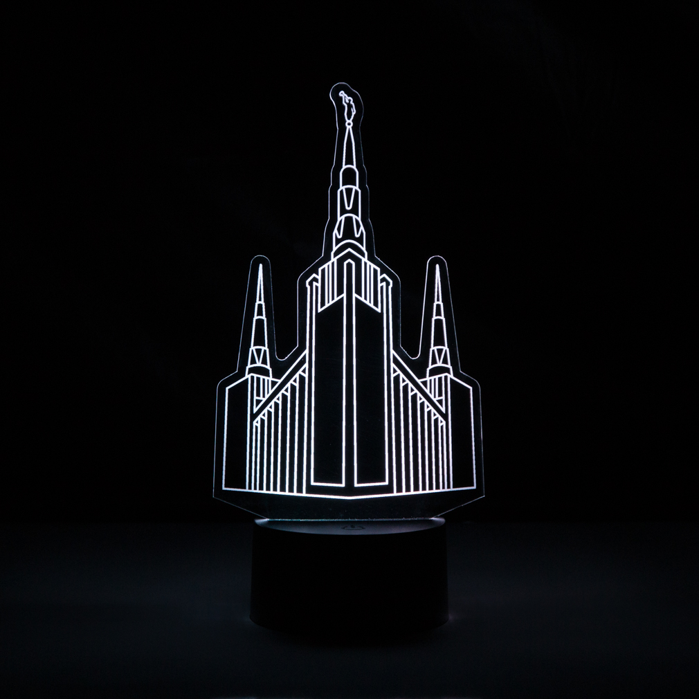 Portland Temple Illuminated Desk Light portland temple desk light, portland temple light, portland temple decor