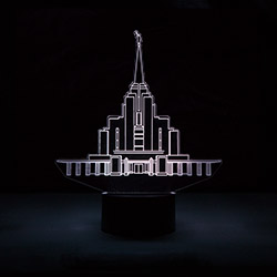 Rexburg Temple LED Night Light bountiful temple, bountiful temple decor, lds desk lights, lds night light, bountiful temple desk light