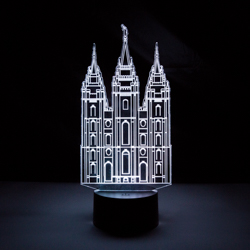 Salt Lake City Temple Illuminated Desk Light salt lake city temple light, salt lake city temple desk light, salt lake city temple gift, lds night light, lds desk light