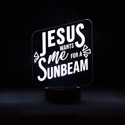 Jesus Wants Me for a Sunbeam Illuminated Desk Light jesus wants me for a sunbeam light, lds desk light, lds night light, illuminated desk light