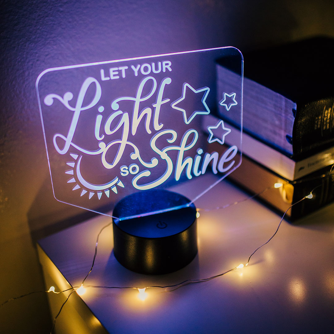 Let Your Light So Shine Illuminated Desk Light - LDP-IDL-LYLSS