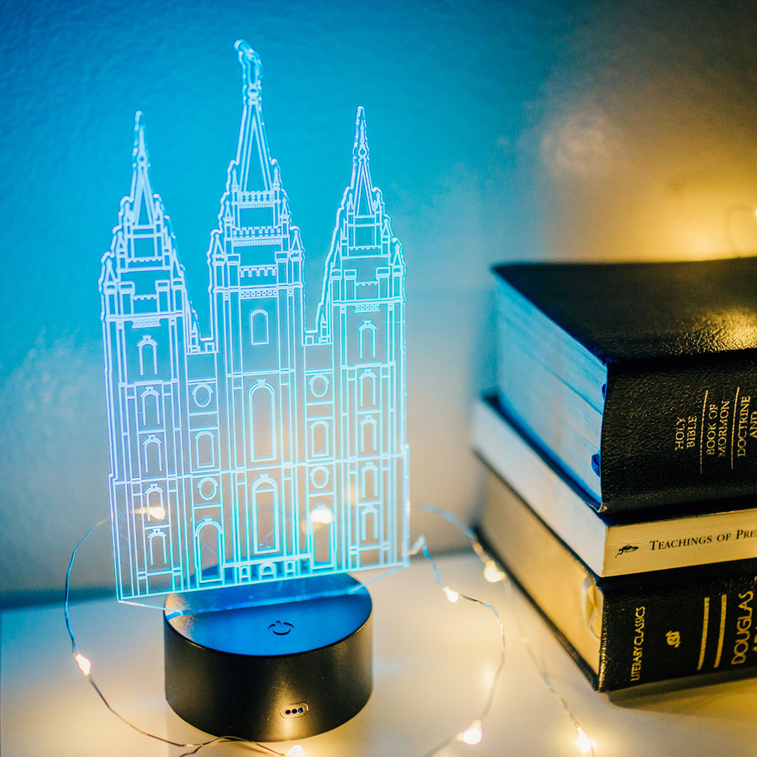 Salt Lake City Temple Illuminated Desk Light - LDP-IDL-SLC