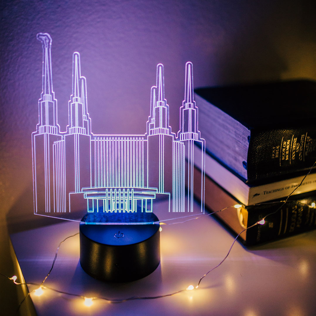 Washington D.C. Temple Illuminated Desk Light - LDP-IDL-WDC