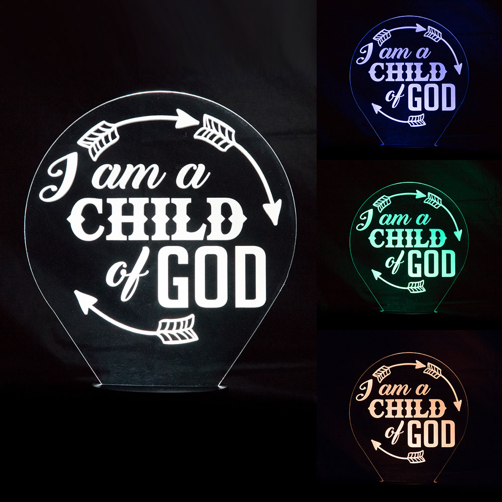 I Am A Child of God Illuminated Desk Light - LDP-IDL-IACOG